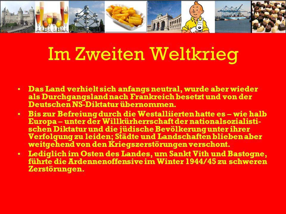 Im Zweiten Weltkrieg Das Land verhielt sich anfangs neutral, wurde aber wieder als Durchgangsland nach Frankreich besetzt und von der Deutschen NS-Diktatur übernommen.