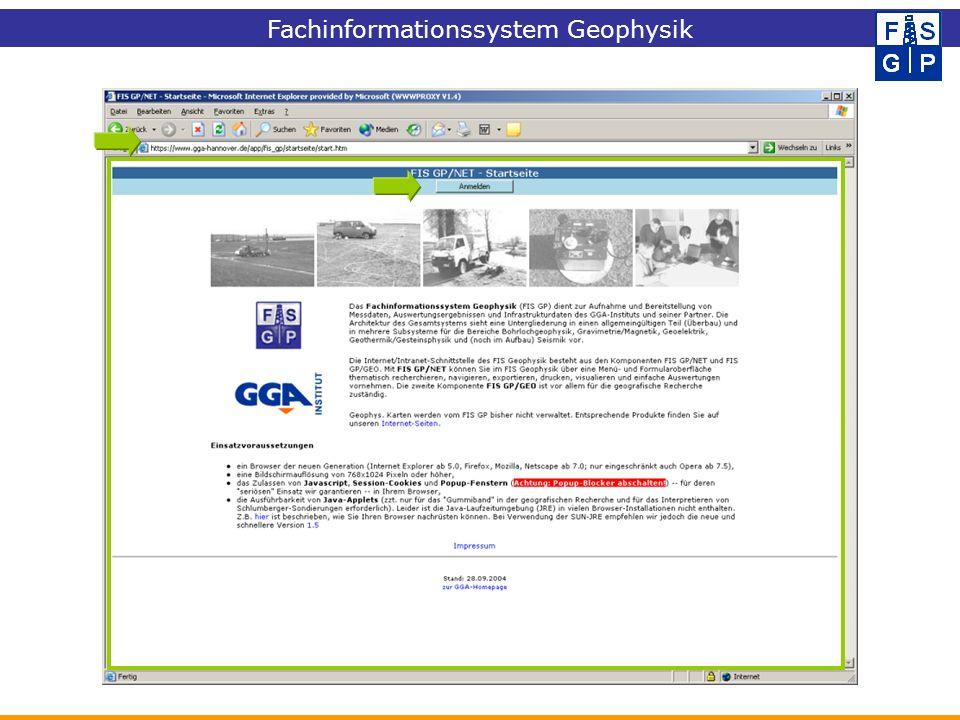 Fachinformationssystem Geophysik