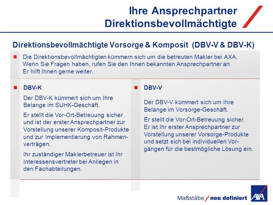 DBV-K Der DBV-K kümmert sich um Ihre Belange im SUHK-Geschäft. Er stellt die Vor-Ort-Betreuung sicher und ist der erster Ansprechpartner zur Vorstellu