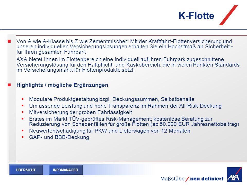 K-Flotte Von A wie A-Klasse bis Z wie Zementmischer: Mit der Kraftfahrt-Flottenversicherung und unseren individuellen Versicherungslösungen erhalten S