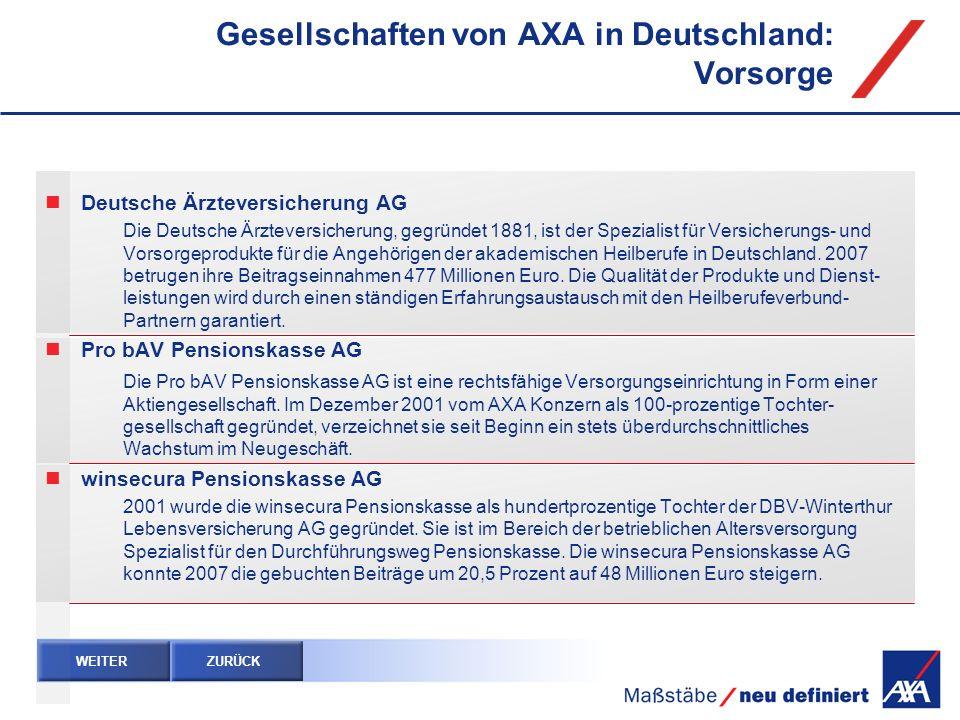 Deutsche Ärzteversicherung AG Die Deutsche Ärzteversicherung, gegründet 1881, ist der Spezialist für Versicherungs- und Vorsorgeprodukte für die Angeh