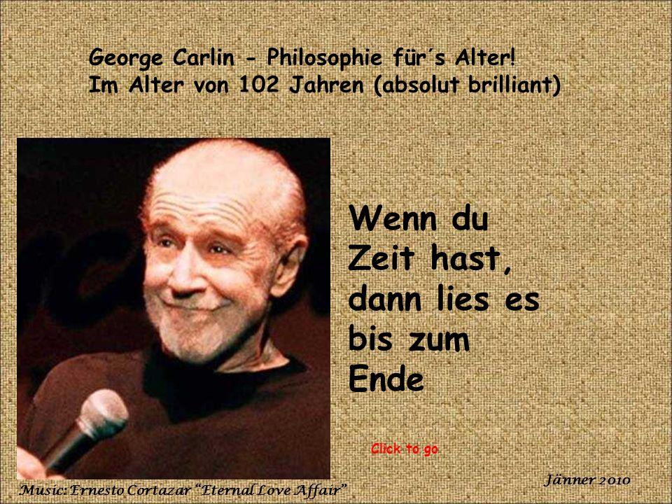 George Carlin - Philosophie für´s Alter.