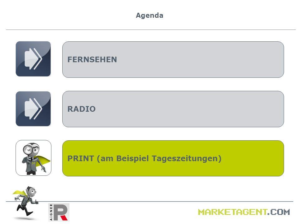 Agenda FERNSEHEN RADIO PRINT (am Beispiel Tageszeitungen)