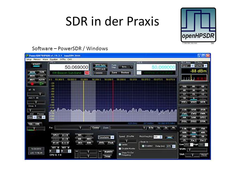 SDR in der Praxis Software – PowerSDR / Windows
