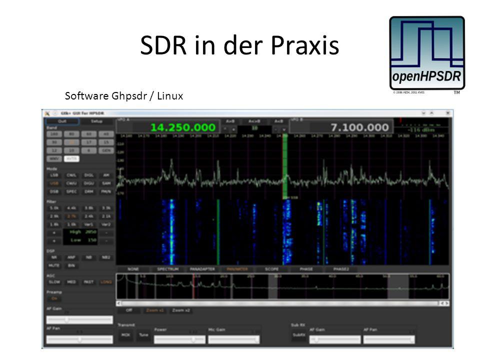 SDR in der Praxis Software Ghpsdr / Linux