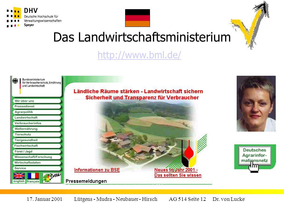 17.Januar 2001 Lütgens - Mudra - Neubauer - Hirsch AG 514 Seite 12 Dr.
