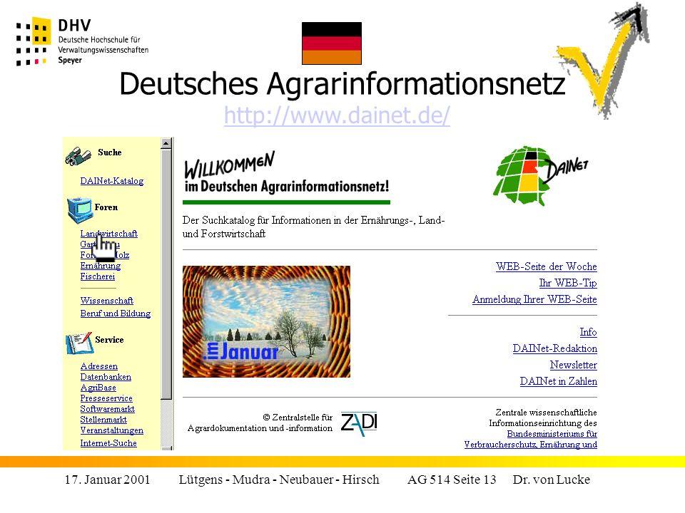 17.Januar 2001 Lütgens - Mudra - Neubauer - Hirsch AG 514 Seite 13 Dr.