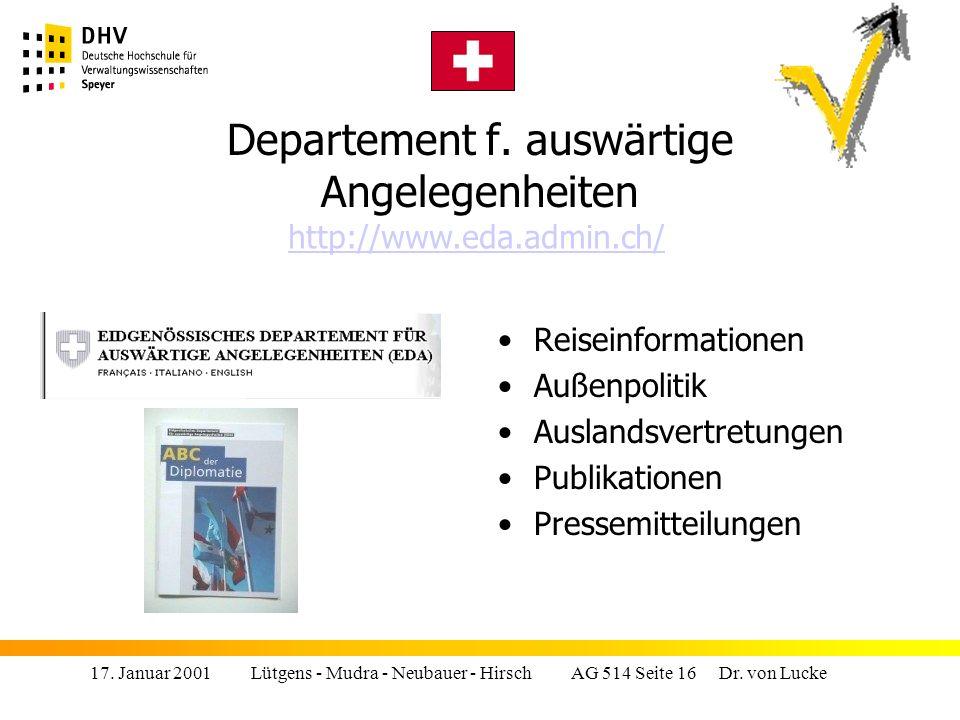 17.Januar 2001 Lütgens - Mudra - Neubauer - Hirsch AG 514 Seite 16 Dr.