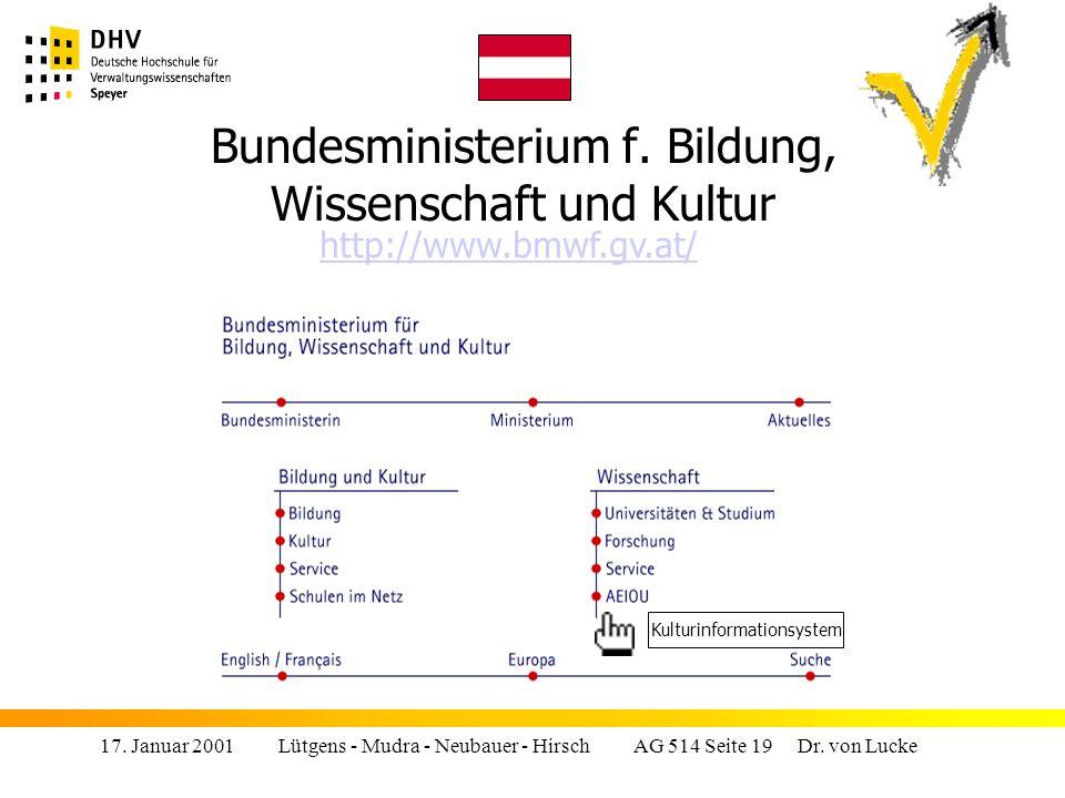 17.Januar 2001 Lütgens - Mudra - Neubauer - Hirsch AG 514 Seite 19 Dr.