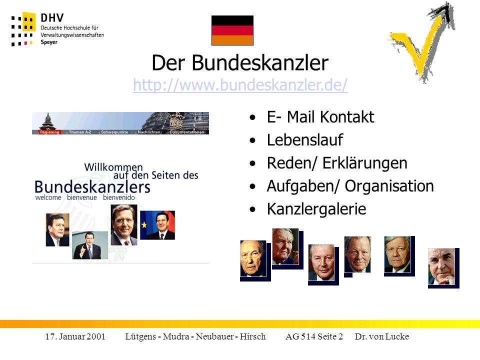 17.Januar 2001 Lütgens - Mudra - Neubauer - Hirsch AG 514 Seite 23 Dr.