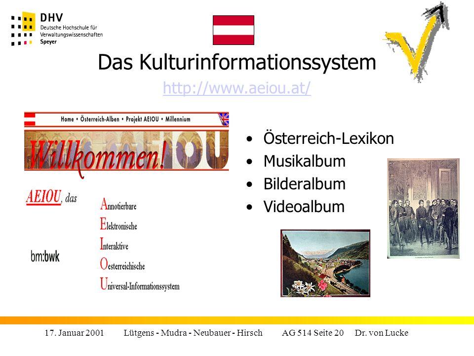17.Januar 2001 Lütgens - Mudra - Neubauer - Hirsch AG 514 Seite 20 Dr.