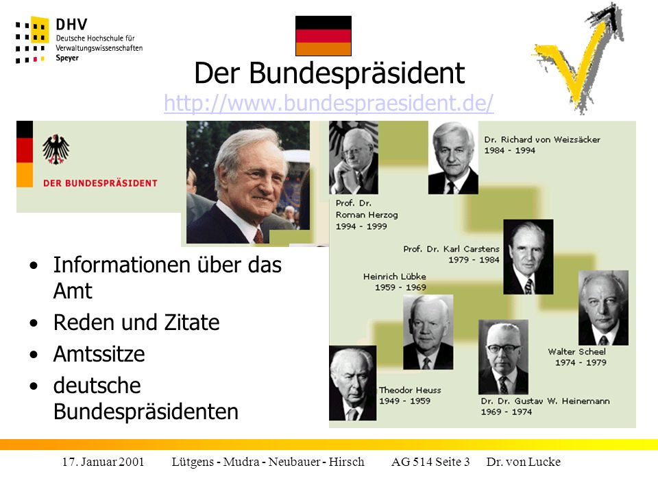 17.Januar 2001 Lütgens - Mudra - Neubauer - Hirsch AG 514 Seite 3 Dr.