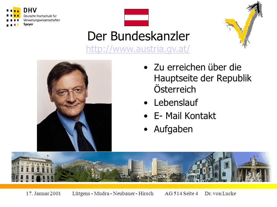 17.Januar 2001 Lütgens - Mudra - Neubauer - Hirsch AG 514 Seite 25 Dr.