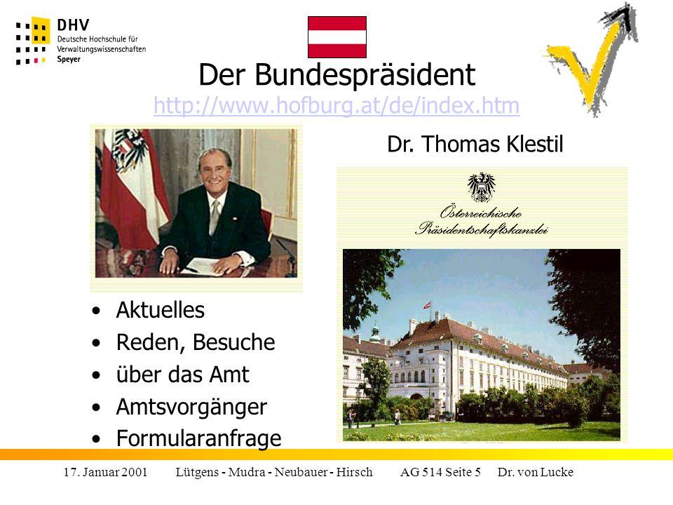 17.Januar 2001 Lütgens - Mudra - Neubauer - Hirsch AG 514 Seite 26 Dr.