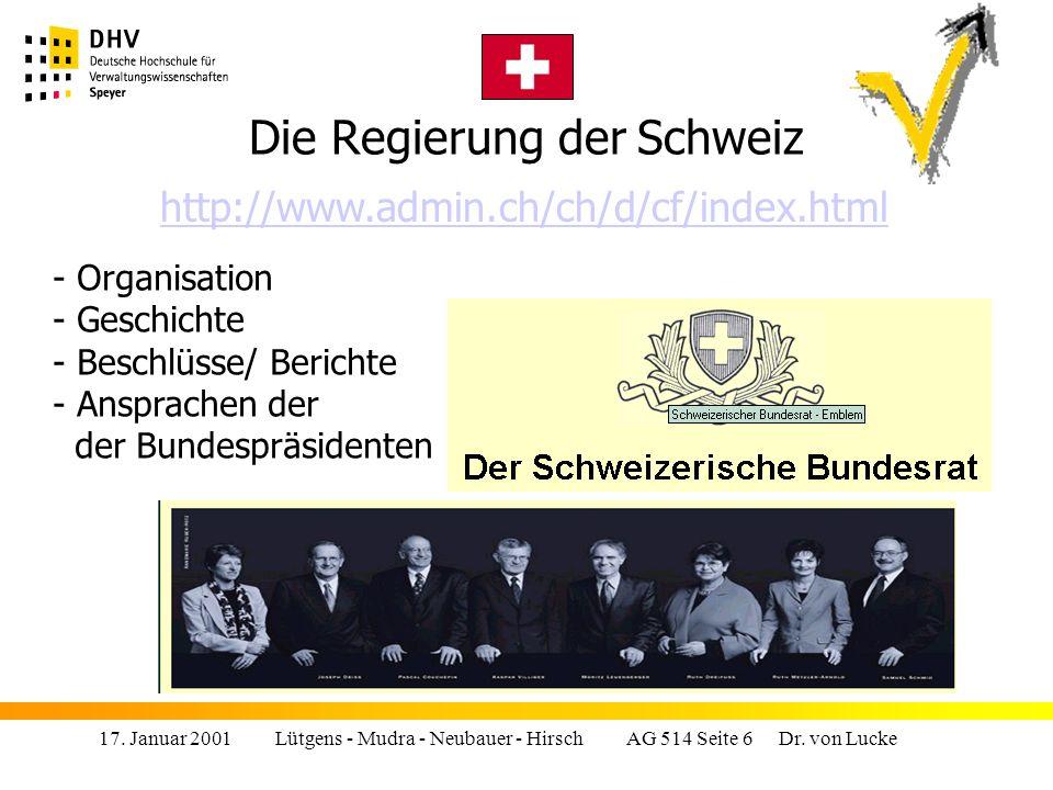 17.Januar 2001 Lütgens - Mudra - Neubauer - Hirsch AG 514 Seite 17 Dr.