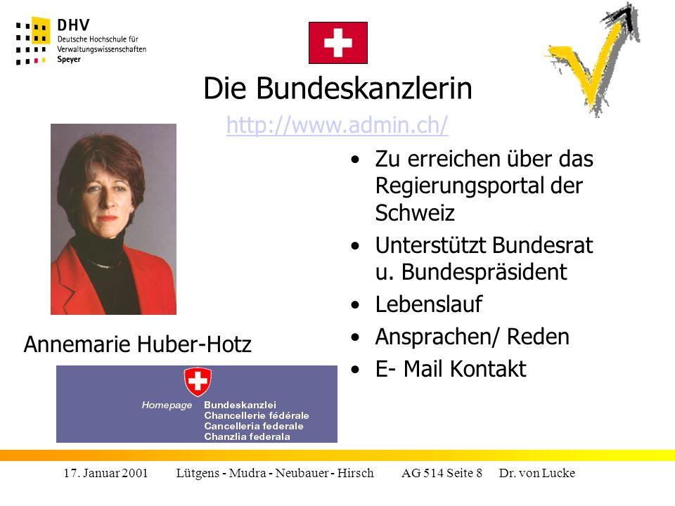 17.Januar 2001 Lütgens - Mudra - Neubauer - Hirsch AG 514 Seite 9 Dr.