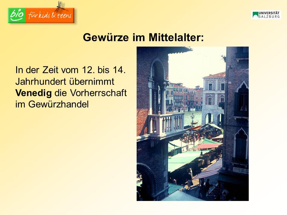 Gewürze im Mittelalter: In der Zeit vom 12.bis 14.