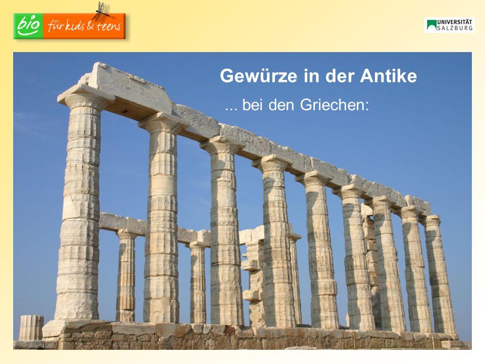 Gewürze in der Antike... bei den Griechen: