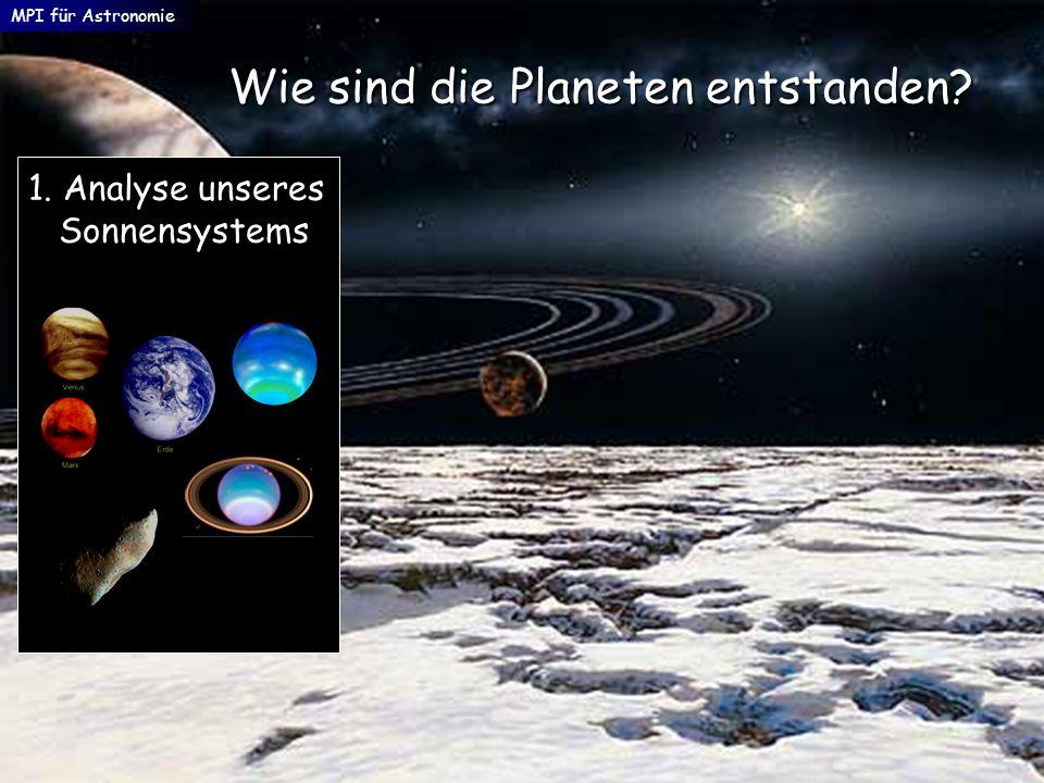MPI für Astronomie Wie sind die Planeten entstanden? 1. Analyse unseres Sonnensystems Sonnensystems