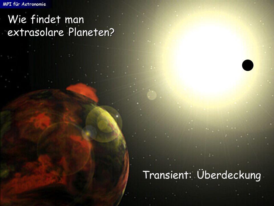 Wie findet man extrasolare Planeten? MPI für Astronomie Transient: Überdeckung