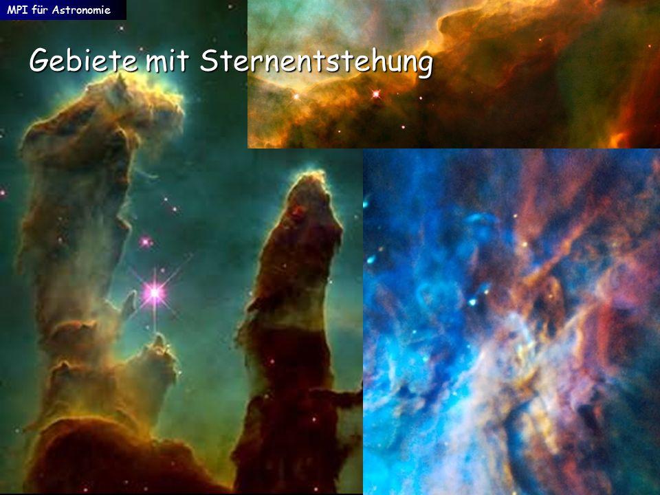 Gebiete mit Sternentstehung MPI für Astronomie