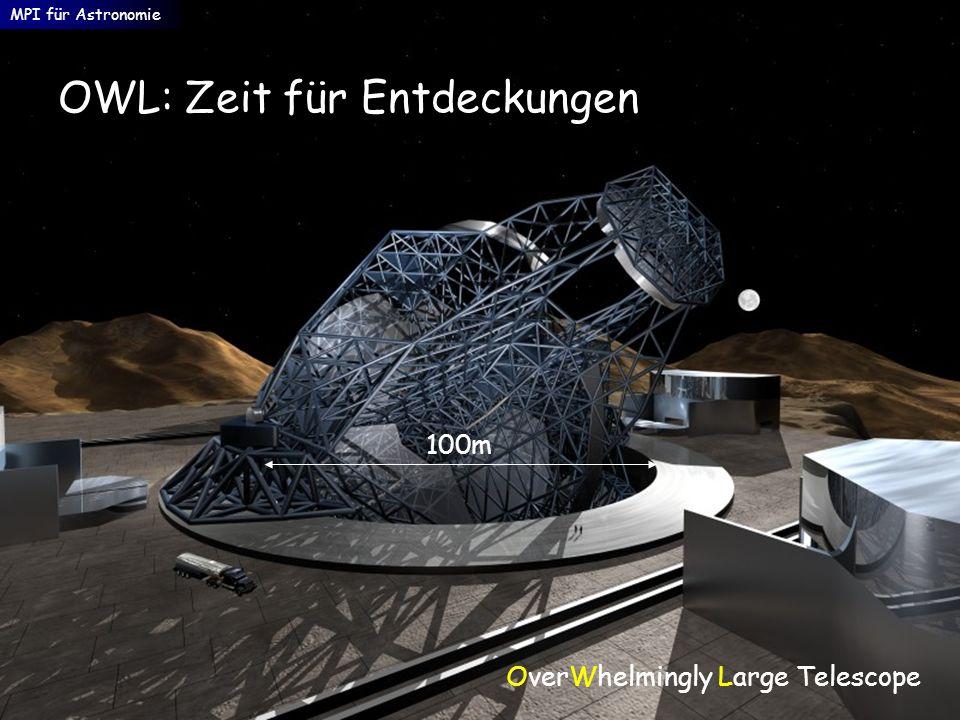 OWL: Zeit für Entdeckungen MPI für Astronomie OverWhelmingly Large Telescope 100m