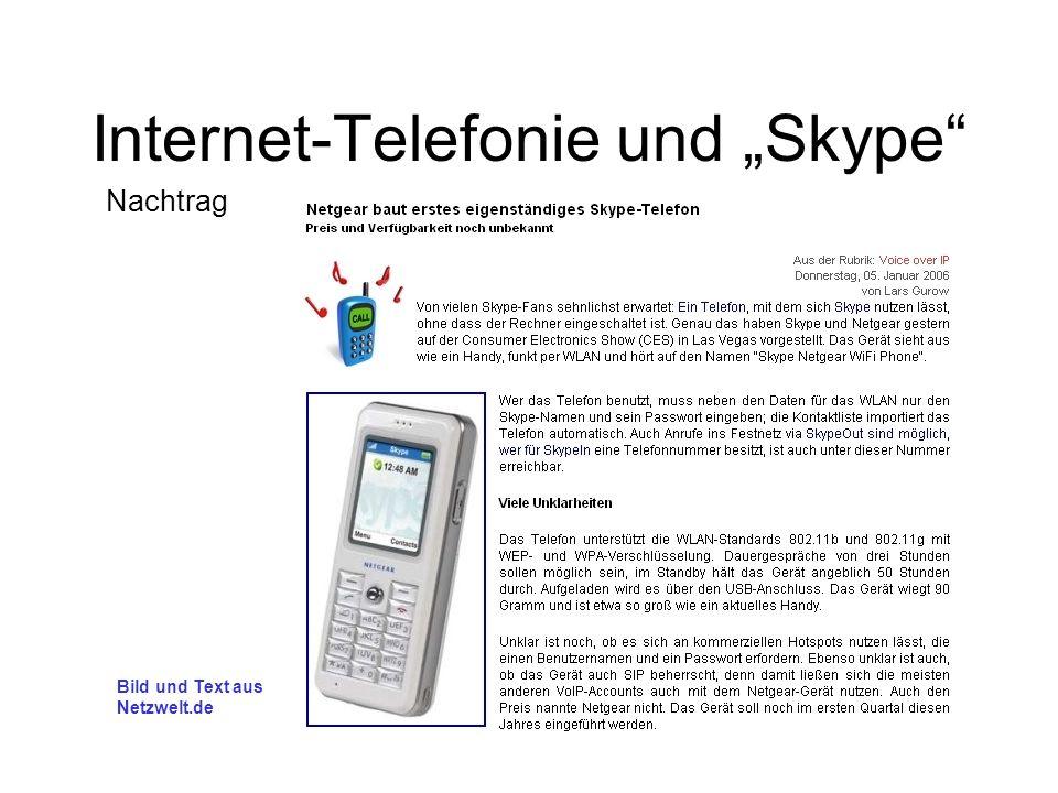 Bild und Text aus Netzwelt.de Nachtrag