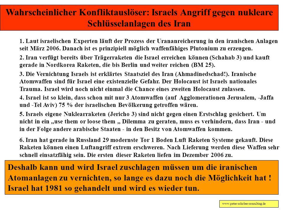 www.peter-schober-consulting.de Ulrich SAHM: Die Israelis betrachten ihren Staat nach dem Holocaust als Überlebensgarantie. Weil die Welt sich während
