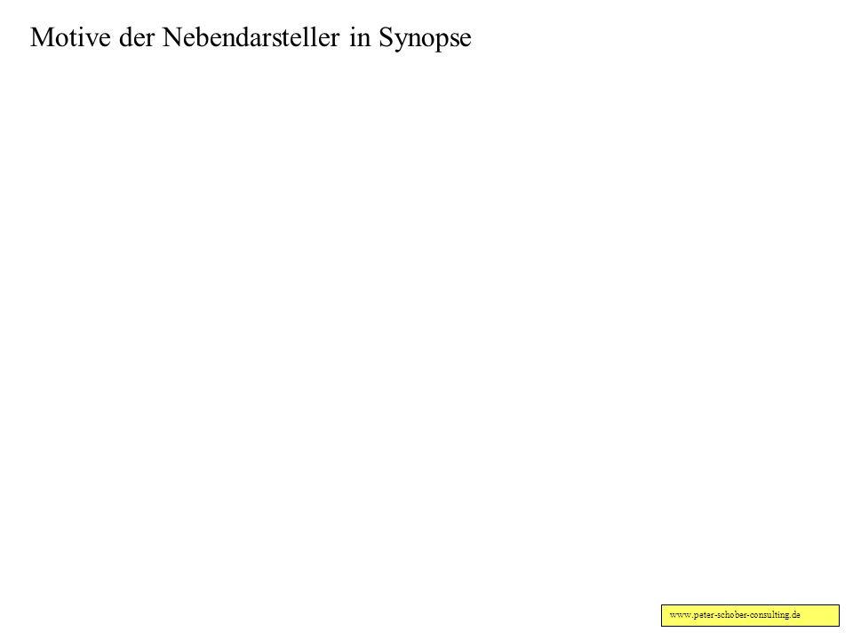 www.peter-schober-consulting.de Motive der Hauptakteure in Synopse