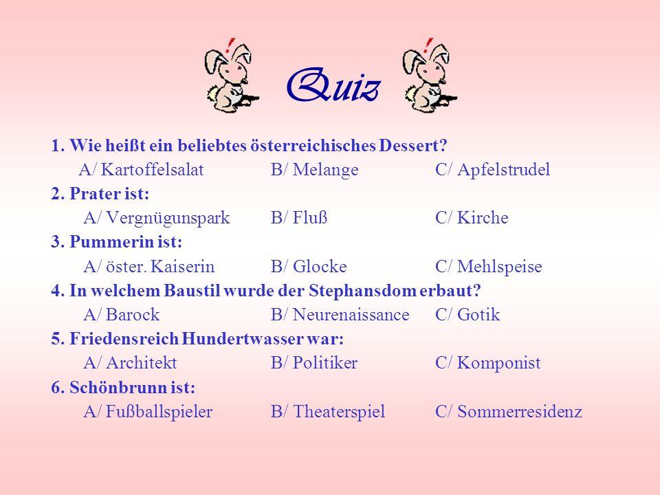Küche Mehlspeisen – seinerzeit von böhmischen Köchinnen nach Wien gebracht köstliche Spezialitäten: –Wiener Schnitzel –Marillenknödel –Sachertorte –Ka