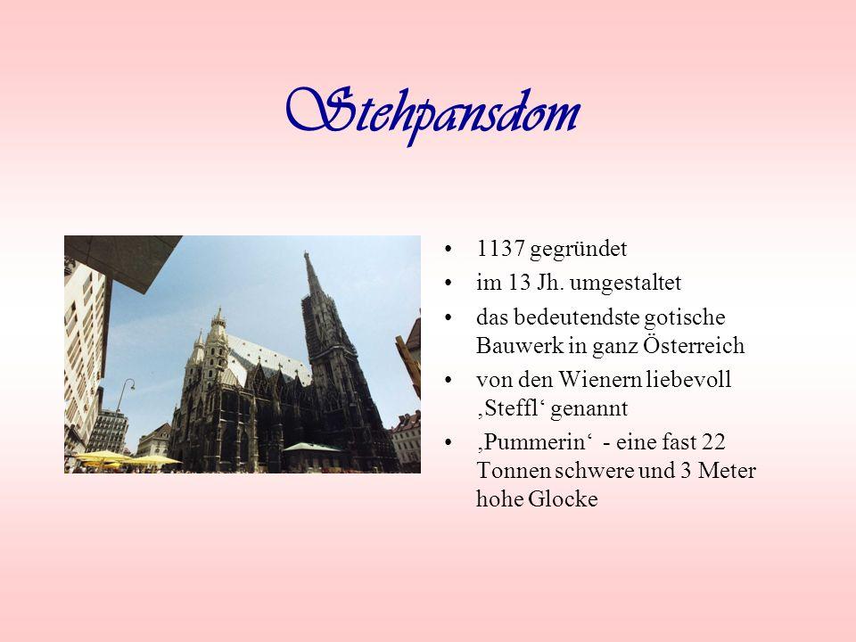 Graben die bekannteste Straße in Wien mit vielen Geschäften, Banken usw.