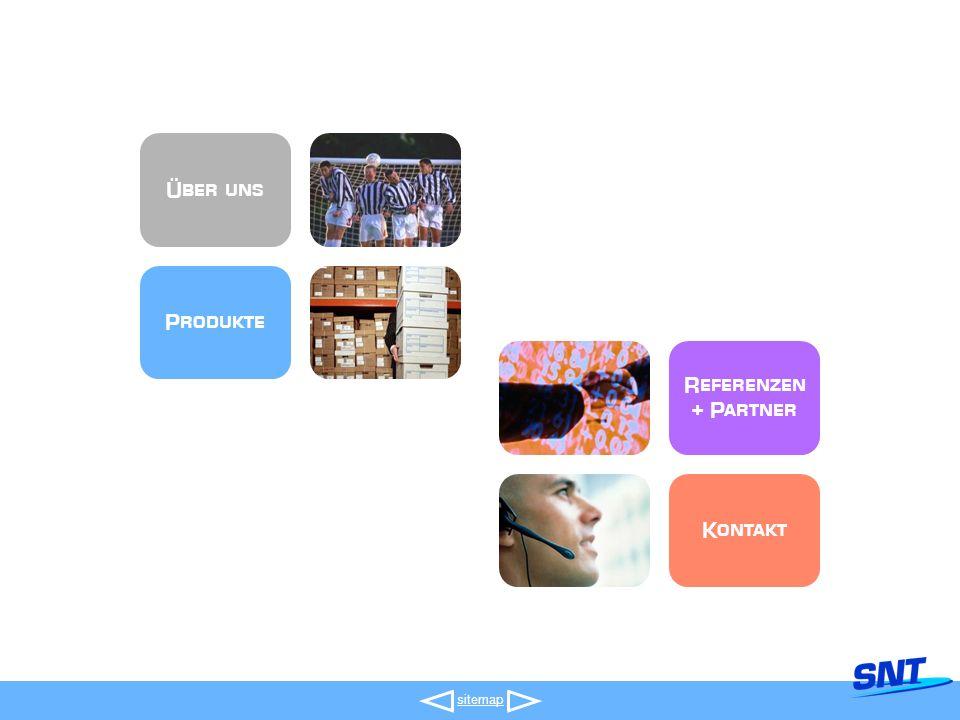 Produkte Referenzen + Partner Kontakt Über uns sitemap