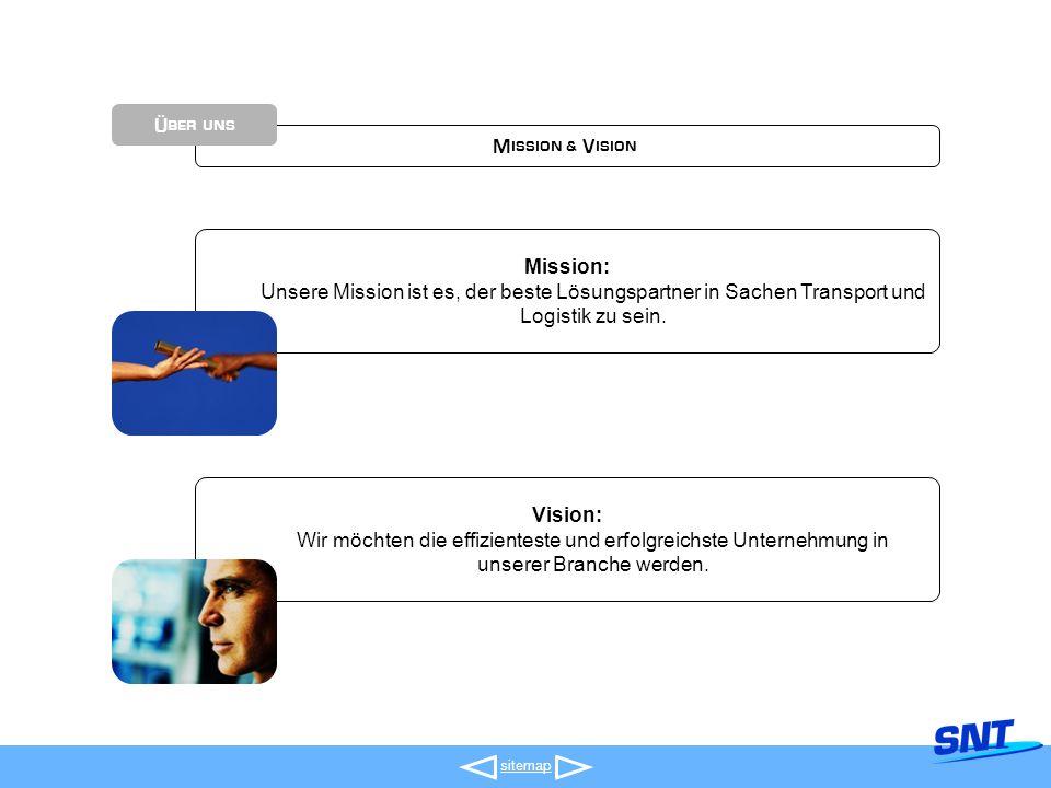 Mission & Vision sitemap Über uns Mission: Unsere Mission ist es, der beste Lösungspartner in Sachen Transport und Logistik zu sein.