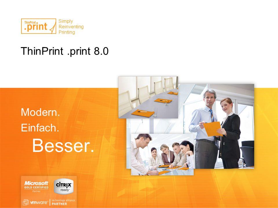 ThinPrint.print 8.0.print Application Server Engine 8.0 Perfektes Druckmanagement für Application Server auf Basis von Citrix XenApp (inkl.