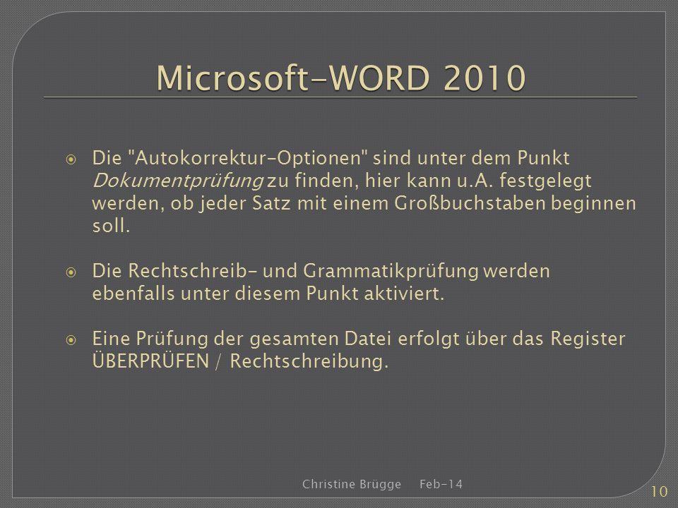 Microsoft-WORD 2010 Die
