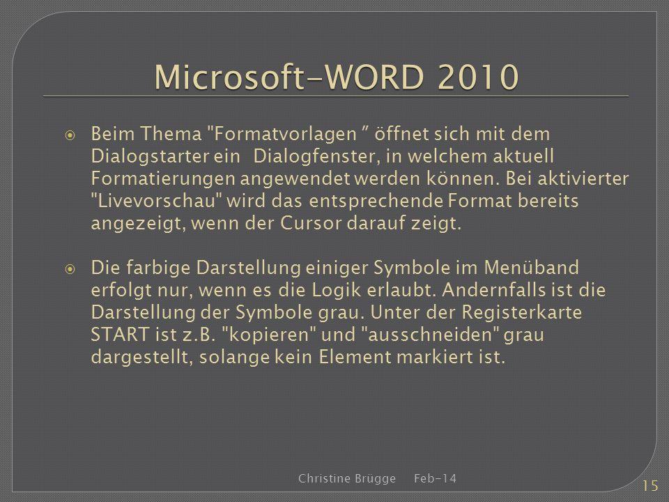 Microsoft-WORD 2010 Beim Thema