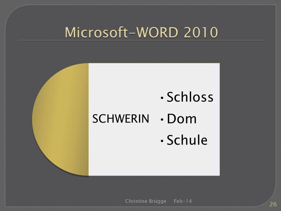 Microsoft-WORD 2010 Feb-14Christine Brügge 26 SCHWERIN Schloss Dom Schule