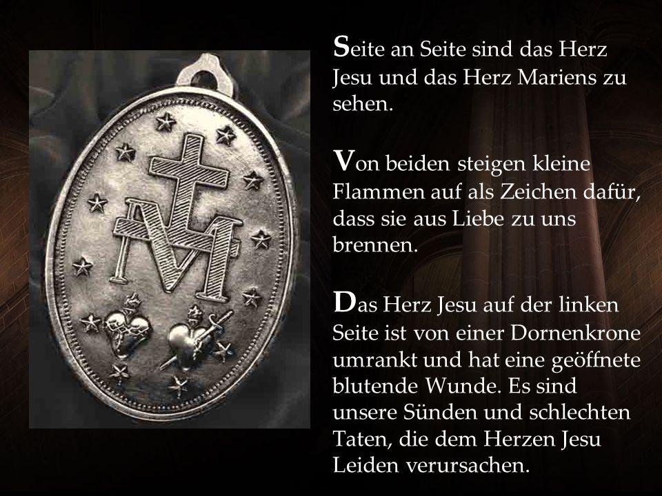 S eite an Seite sind das Herz Jesu und das Herz Mariens zu sehen.