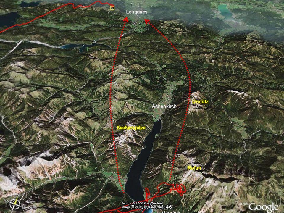 Achenkirch Lenggries Maurach Rofan Unnütz Seekarspitze