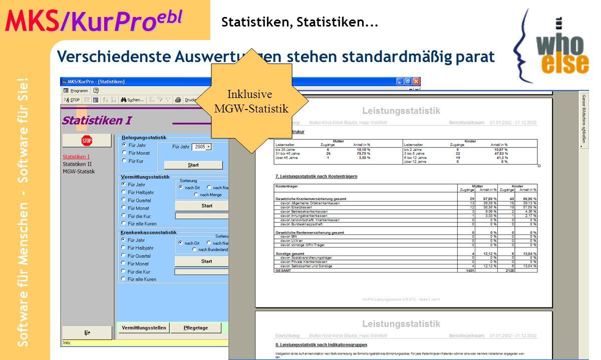 Software für Menschen - Software für Sie.MKS /KurPro ebl Wir betreuen Sie direkt...