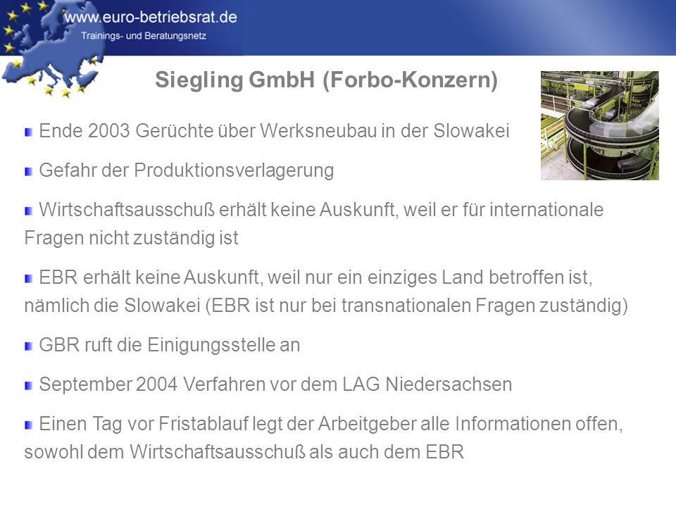 www.euro-betriebsrat.de Alcatel-Lucent Dezember 2006: Fusion Alcatel (F) mit Lucent Technologies (USA) Folge: 12.500 Arbeitsplätze sollen abgebaut werden, in Deutschland sind insbesondere die Werke in Stuttgart und Nürnberg betroffen.