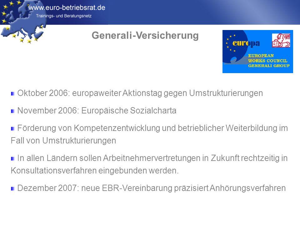 www.euro-betriebsrat.de RWE Energy März 2007: Vereinbarung über die Geltung von Mindeststandards bei Umstrukturierungen in Deutschland, Tschechien, Ungarn, Polen, Slowakei, Österreich und Niederlande...