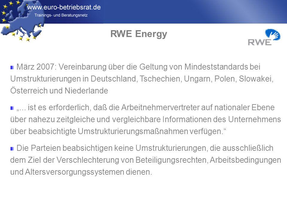 www.euro-betriebsrat.de EBR-Projekt 2007/2008 Strukturen und Lösungen zur besseren Wirksamkeit des EBR bei der vorausschauenden Bewältigung des Wandels am Güterverkehrsmarkt Mit der Erweiterung der internationalen Geschäftstätigkeiten der DB AG verändern sich die Zuständigkeiten der EBR-Mitglieder und damit das Informationsbedürfnis und die Kommunikationswege Prävention von Streitigkeiten im Kontext von Umstrukturierungen, Fusionen, Übernahmen oder Betriebsverlagerungen Analyse der Entwicklung der Logistikunternehmen mit den Perspektiven für den Erhalt von Know-how, Qualifikationen und Arbeitsplätzen Drei Verkehrsachsen (Nord, West/Süd, Ost/Süd-Ost) bei Schenker und Railion, Bereiche Personenverkehr und Infrastruktur werden hinzugezogen