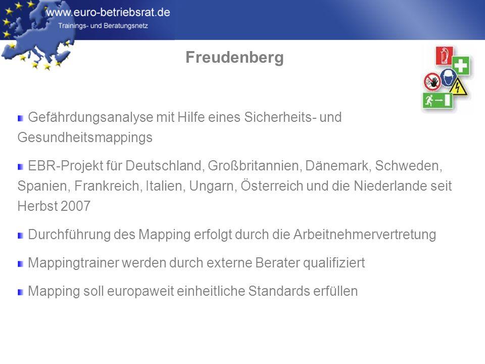www.euro-betriebsrat.de Freudenberg Wir erleben ganz praktisch, wie unterschiedliche Kulturen in Europa an gemeinsamen Themen und Projekten konstruktiv arbeiten können.