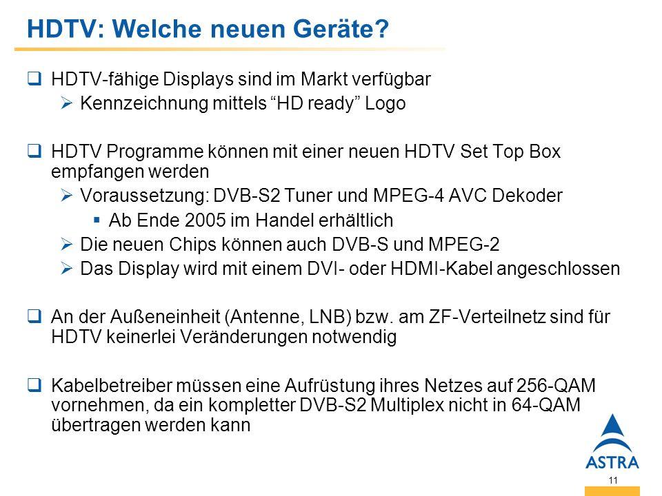 11 HDTV: Welche neuen Geräte.