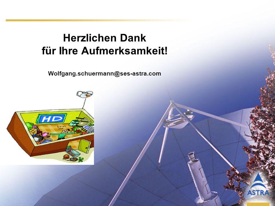 13 Herzlichen Dank für Ihre Aufmerksamkeit! Wolfgang.schuermann@ses-astra.com
