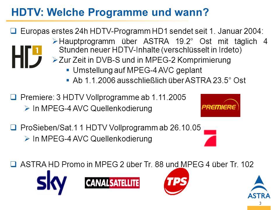 3 HDTV: Welche Programme und wann. Europas erstes 24h HDTV-Programm HD1 sendet seit 1.