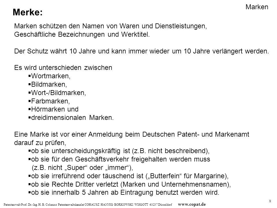 Patentanwalt Prof.Dr.-Ing. H. B.