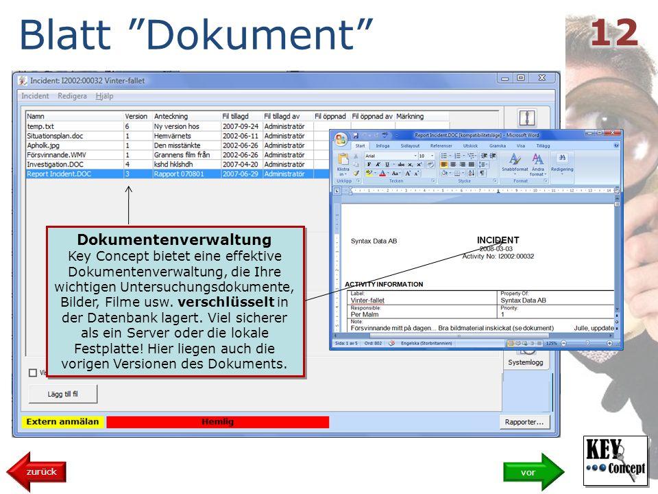 Blatt Dokument vor zurück Dokumentenverwaltung Key Concept bietet eine effektive Dokumentenverwaltung, die Ihre wichtigen Untersuchungsdokumente, Bilder, Filme usw.