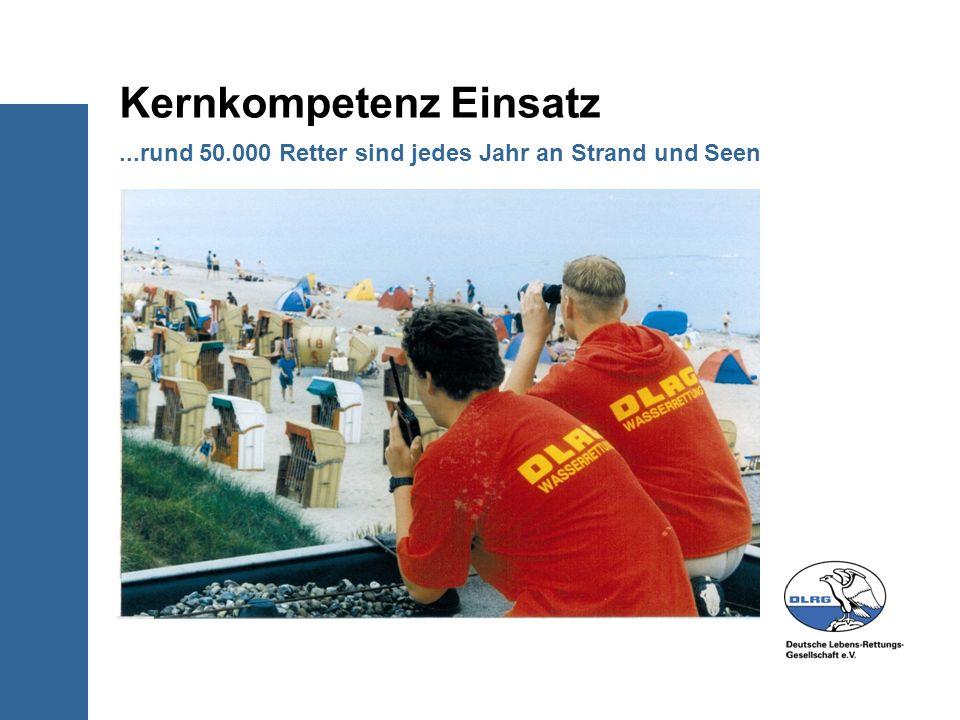 ...rund 50.000 Retter sind jedes Jahr an Strand und Seen Kernkompetenz Einsatz